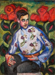 Ilya Mashkov (1881–1944), Portrait of a Boy in a Painted Shirt, 1909. State Russian Museum St Petersburg