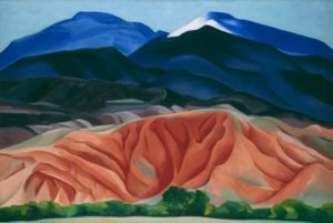 Black Mesa Landscape, New Mexico / Out Back of Marie's II 1930 Oil on canvas mounted on board Georgia O'Keeffe Museum. Gift of The Burnett Foundation © Georgia O'Keeffe Museum